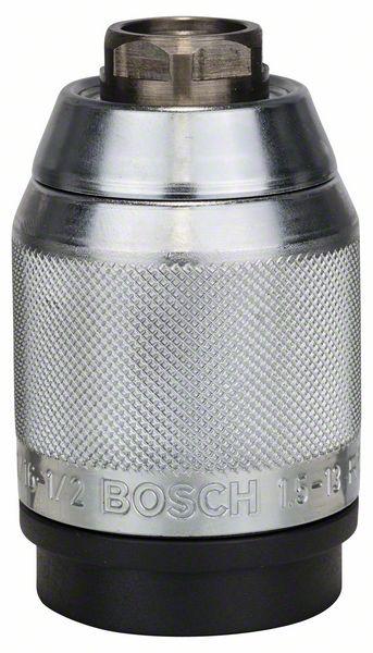 """Быстрозажимной патрон с матовым хромированием Bosch 1,5-13 мм, 1/2"""" - 20 (2608572150)"""