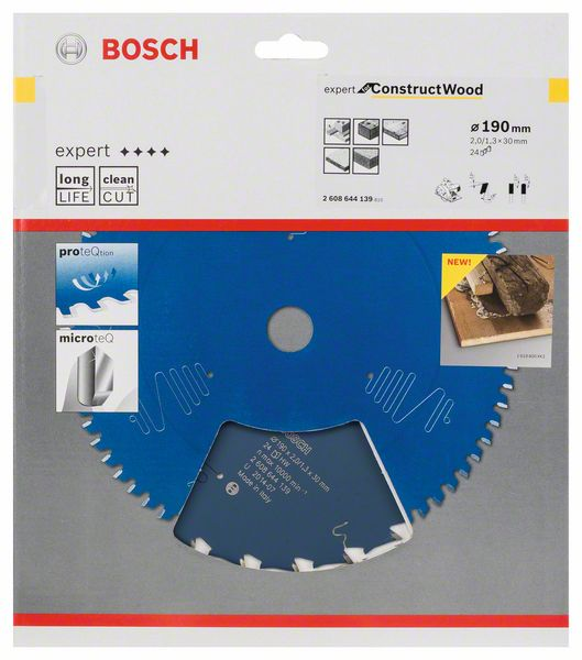 Пильный диск Expert for Construct Wood Bosch  (2608644139)