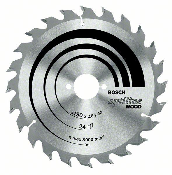 Пильный диск Optiline Wood Bosch 190 x 20/16 x 2,6 mm, 48 (2608640614)