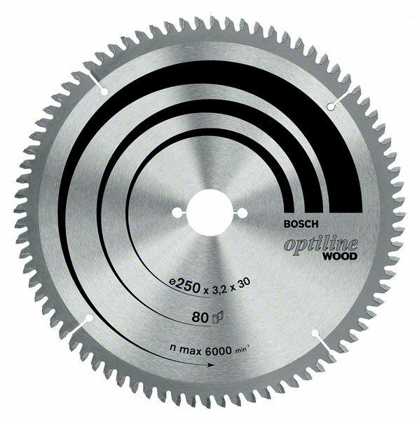 ������� ���� Optiline Wood Bosch 254 x 30 x 2,8 mm, 60 (2608640444)