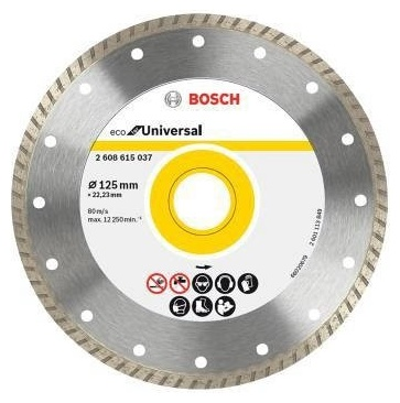 Диск алмазный ECO Universal Turbo (125х22.2 мм) Bosch 2608615037