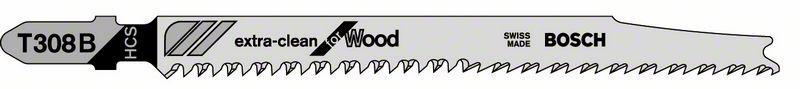 Пильное полотно T 308 B Bosch Extraclean for Hard Wood (2608663753)