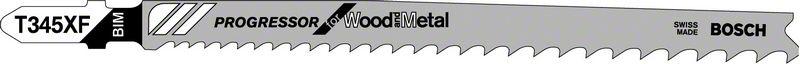 Пильное полотно T 345 XF Bosch Progressor for Wood and Metal (2608634995)